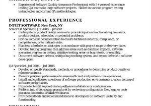 Sqa Resume Sample software Quality assurance Resume Resume Ideas