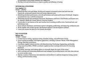 Sqa Resume Sample Sqa Engineer Resume Samples Velvet Jobs