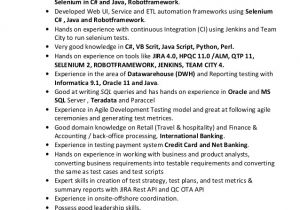 Sqa Resume Sample Sqa Resume Quality assurance Resume Templates Qa Resume