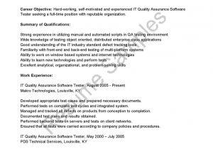 Sqa Resume Sample Sqa Resume Sample Awesome software Testers Resume Tester