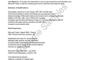 Sqa Resume Sample Sqa Resume Sample Best Of Sample Resume for software