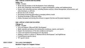 Sql Basic Resume Sql Resume Samples Velvet Jobs