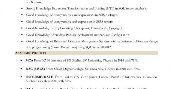 Sql Fresher Resume Sample Sql Fresher Resume Resume Ideas