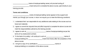 Staff Contract Template Employee Training Agreement Template