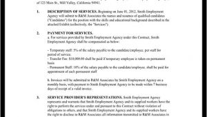 Staffing Agency Contract Template Staffing Agency Agreement Staffing Agency Contract
