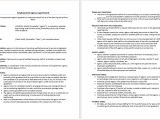 Staffing Contract Template Employment Agency Agreement Template Microsoft Word