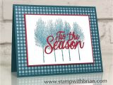 Stampin Up Beautiful Peacock Card Ideas Winter Woods for Cts343 Stamp with Brian