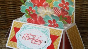 Stampin Up Box Templates Colour Me Happy Flower Shop Long Card In A Box with