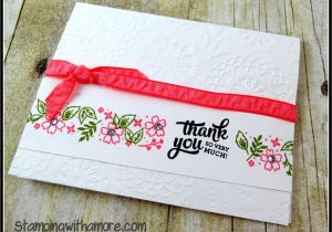 Stampin Up Thank You Card Ideas A Special Thank You Card Using Stampin Up Mixed Borders