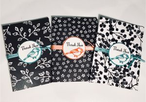 Stampin Up Thank You Card Ideas Craftycarolinecreates Gift Wallet with Matching Note Card
