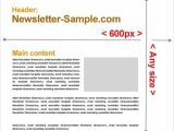 Standard Email Template Width Email Newsletter Templates Size Website Templates