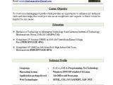 Standard Fresher Resume format Best Resume format for Freshers