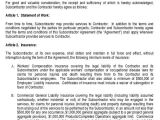Standard Subcontract Agreement Template 25 Construction Agreement forms Templates Sample Templates