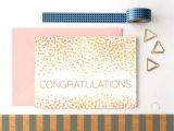 Standard Thank You Card Size Congratulations Card Congratulations Confetti Celebration