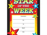 Star Of the Week Poster Template Certificates Star Of the Week