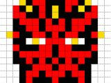 Star Wars Pixel Art Templates Minecraft Pixel Art Templates Darth Maul