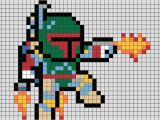 Star Wars Pixel Art Templates Star Wars Boba Fett Pixel Art Brik