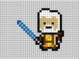 Star Wars Pixel Art Templates Star Wars Obi Wan Pixel Art Brik