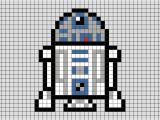 Star Wars Pixel Art Templates Star Wars R2 D2 Pixel Art Brik