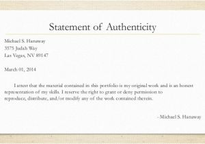 Statement Of Authenticity Template Dissertation Statement Authenticity 100 original