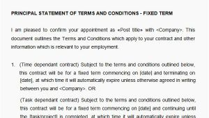 Statement Of Terms and Conditions Of Employment Template 10 why Choosing Statement Of Terms and Conditions Of