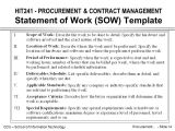Statement Of Work Contract Template Hit241 Procurement Contract Management Introduction