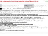 Stationary Engineer Resume Sample Stationary Engineer and Boiler Operator Resume Sample