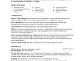 Store Keeper Resume In Word format Retail Store Manager Resume Sample