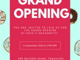 Store Opening Flyer Template Sweets Shop Grand Opening Flyer Template Postermywall