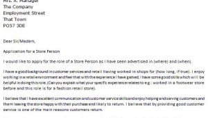 Storeperson Cover Letter Store Person Cover Letter Example Icover org Uk
