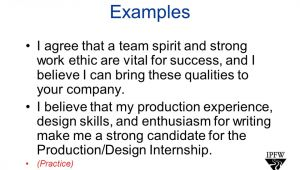 Strong Work Ethic Cover Letter the Cover Letter From the Purdue Owl Worth Weller Eng W