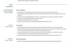 Structural Engineer Responsibilities Resume Structural Engineer Resume Samples and Templates Visualcv