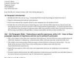 Structuring A Cover Letter Graduate Student Cover Letter Structure