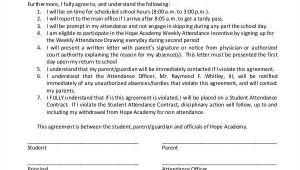 Student attendance Contract Template 8 Student Contract Samples Templates In Pdf Word