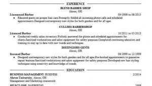 Student Barber Resume Student Barber Resume Example International Barber Style