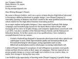 Student Cover Letter for Resume High School Student Cover Letter Sample Guide