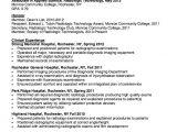 Student Radiographer Resume Resume for Radiologic Technologist Http Resumesdesign
