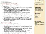 Student Representative Resume Commercial Sales Representative Resume Samples Qwikresume