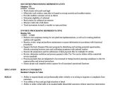 Student Representative Resume Processing Representative Resume Samples Velvet Jobs