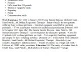 Student Respiratory therapist Resume Student Respiratory therapist Resume Template Best