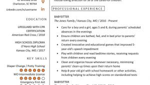 Student Resume Babysitting Babysitter Resume Example Writing Guide Resume Genius