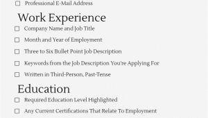 Student Resume Checklist Resume formatting Essentials the Graduate School