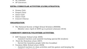 Student Resume for Recommendation Letter Resume format for Recommendations