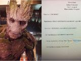 Student Resume Groot 39 I Am Groot 39 Resume Goes Viral after Texas Teacher Gave