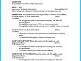 Student Resume Letter Best Current College Student Resume with No Experience