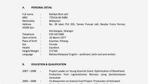 Student Resume Malaysia Sample Of Cv Malaysia Cv Template Malaysia