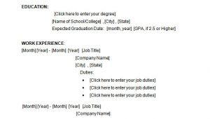 Student Resume Microsoft Word 34 Microsoft Resume Templates Doc Pdf Free Premium