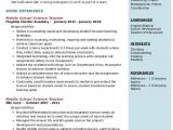 Student Resume Middle School Middle School Science Teacher Resume Samples Qwikresume