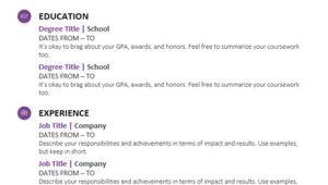 Student Resume Modern Design Student Resume Modern Design