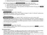 Student Resume Reddit Mechanical Engineering Student Headed for the Real World